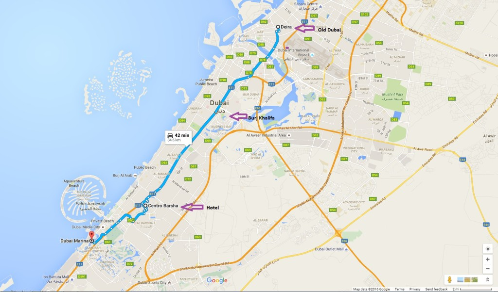 Remember how I said Dubai is really, really spread out? Yeah…