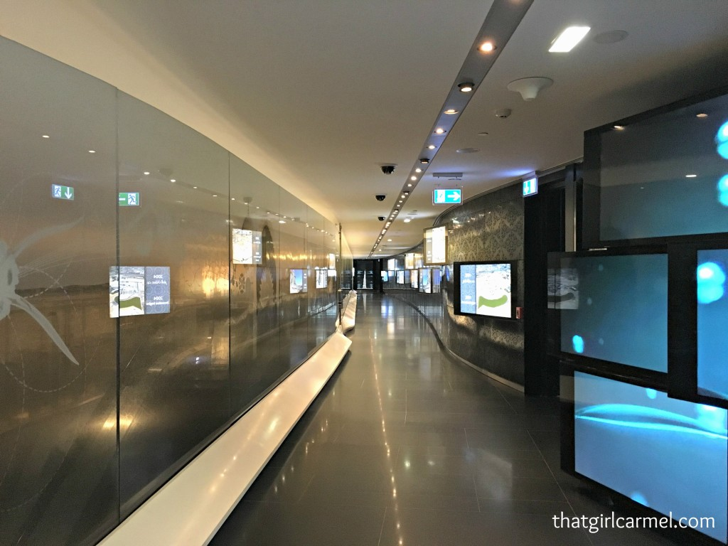 Part of the corridor leading to the elevator