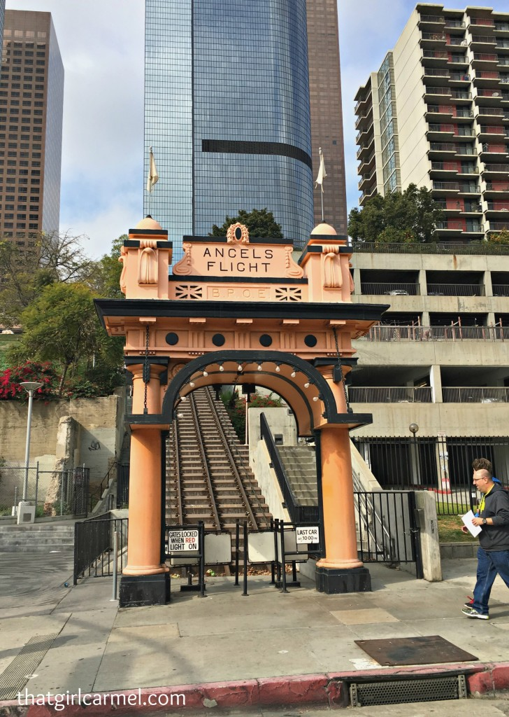 Bad news: Angel Flight, L.A.'s funicular, is now closed. Good news: I got the chance to ride it a few years back. Read about it here.