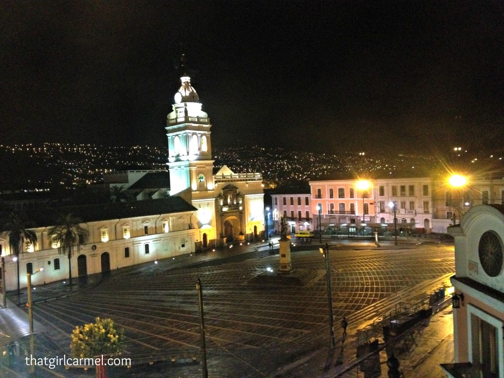 Plaza Santo Domingo in Quito's historic center