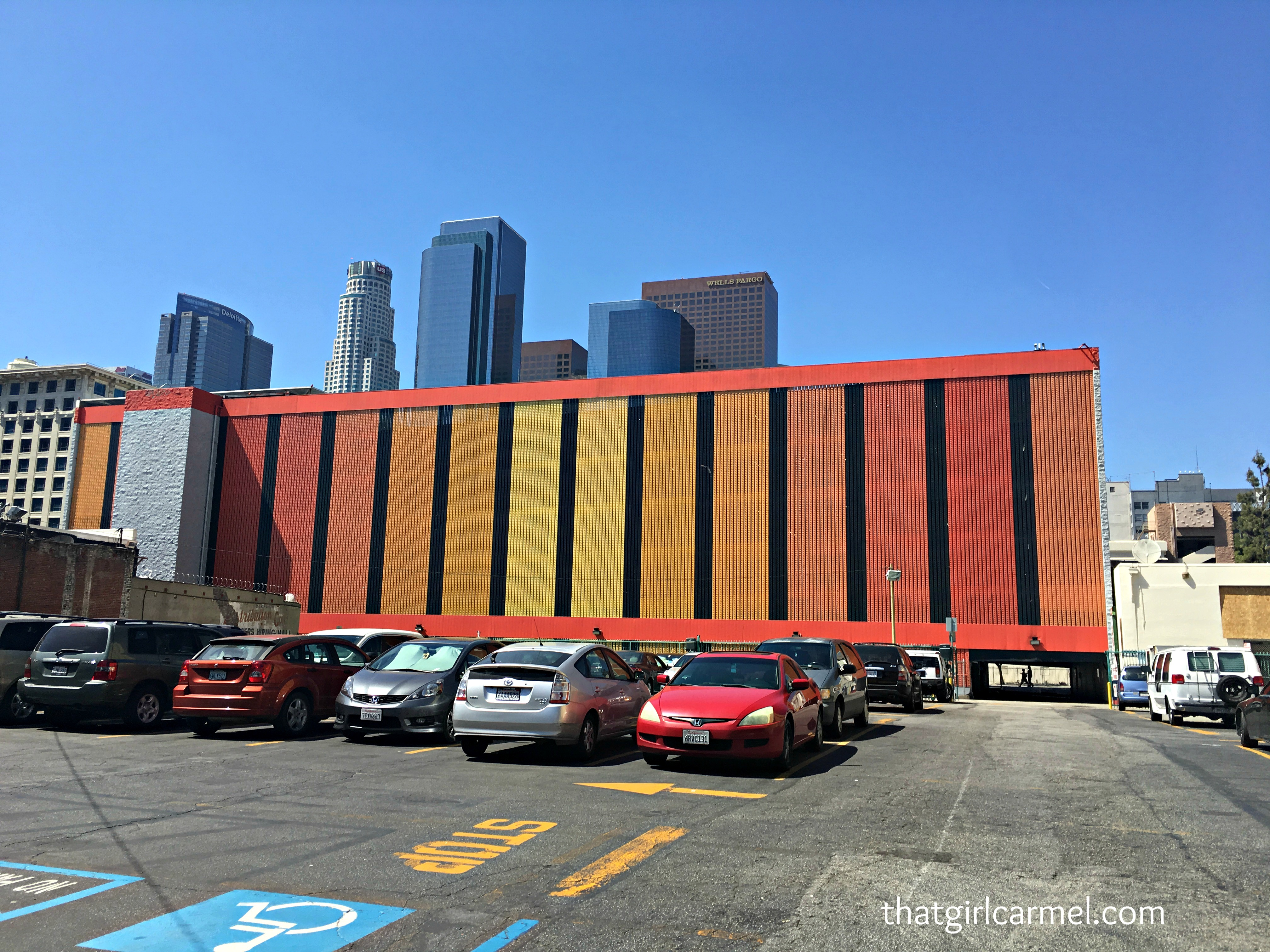 Walked past this colorful parking garage en route to lunch downtown last weekend