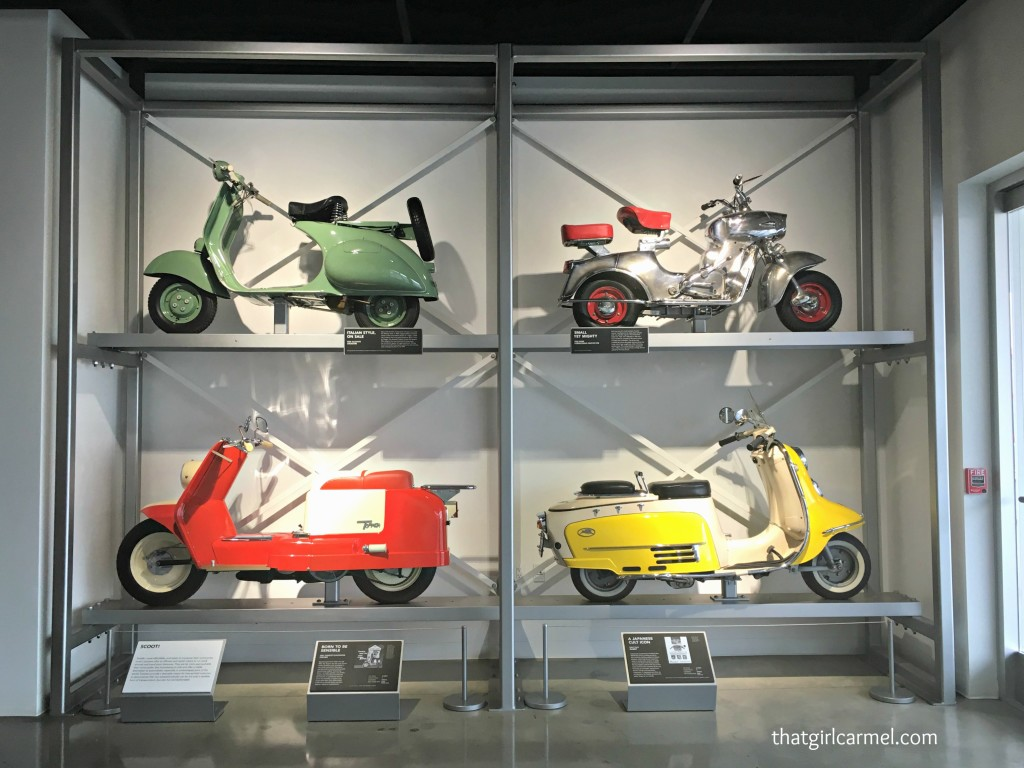 I think this display of scooters is cute