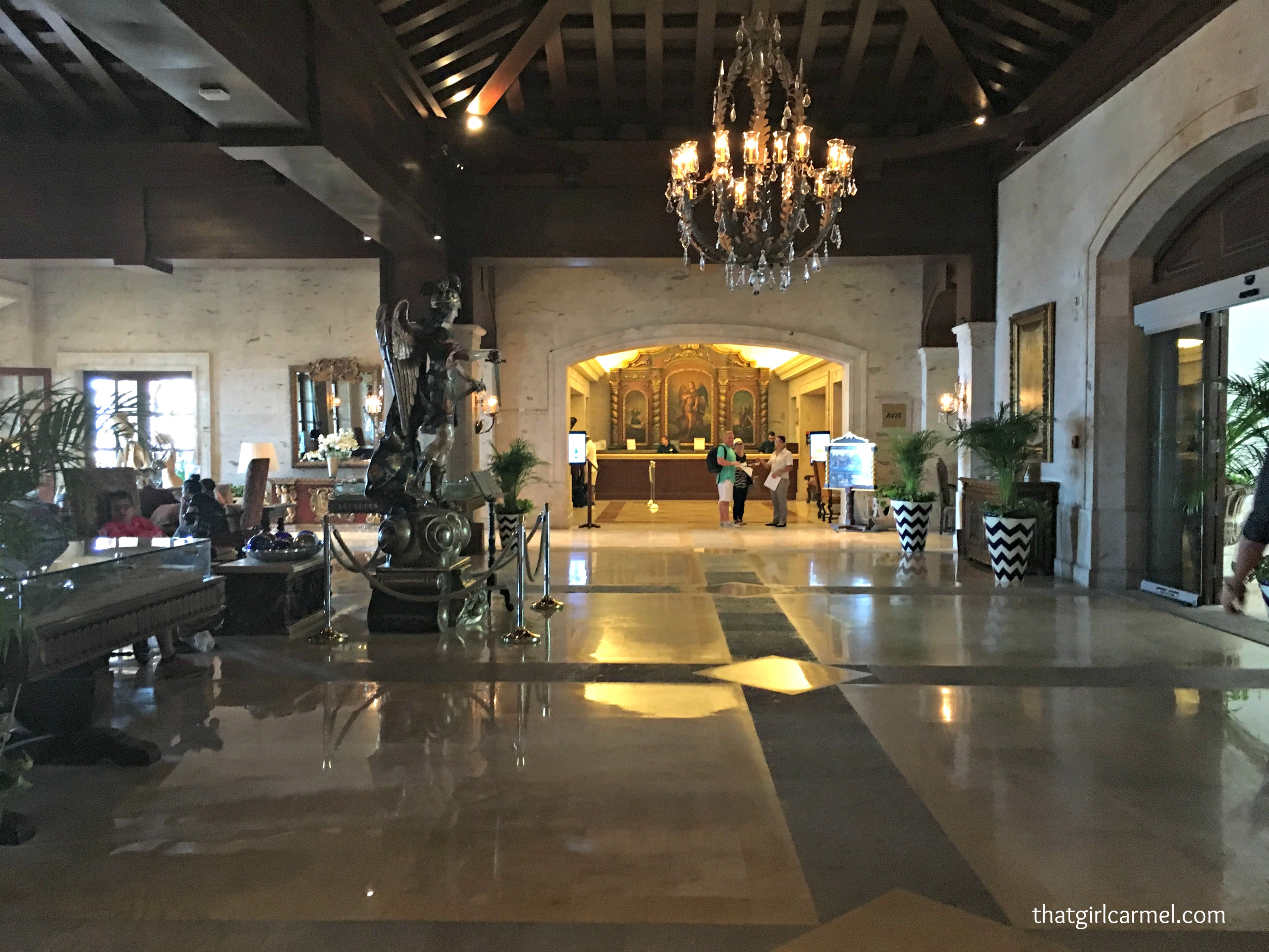 Inside of the lobby