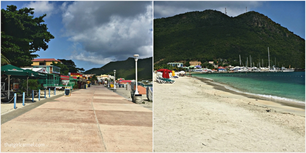 We enjoyed strolling along the waterfront in Philipsburg which is lined with restaurants and boutiques