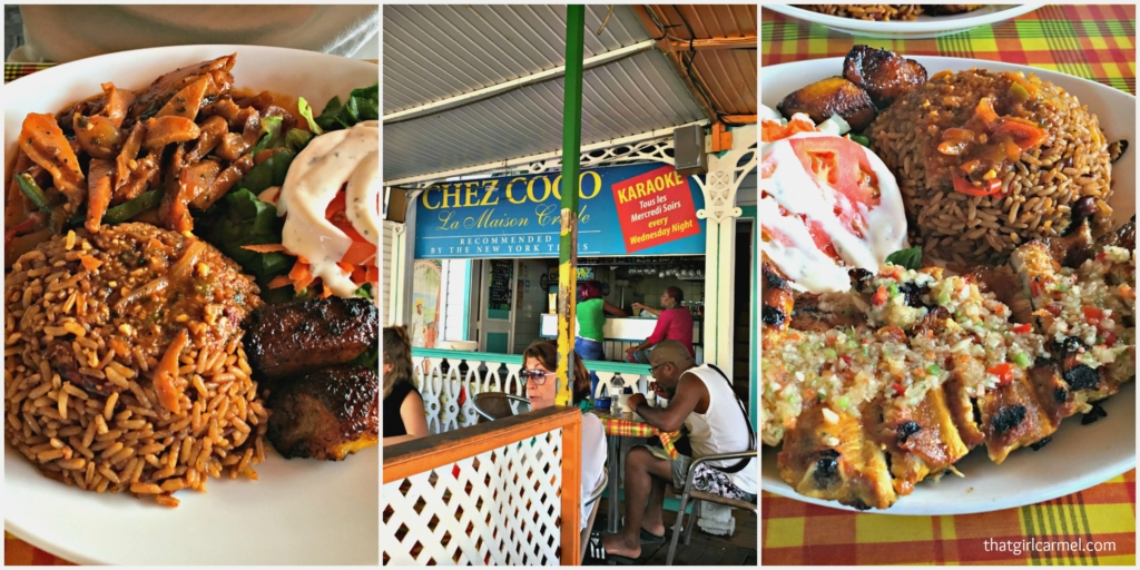 Dinner at Chez Coco at Marigot Market. I ordered the Creole ribs and Jave ordered the curry conch. Both were good, but we both agreed that we liked Enoch's Place better.